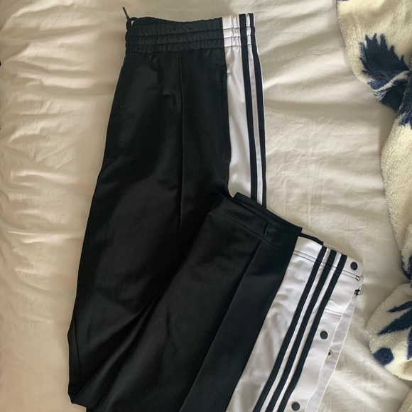 Adidas Black Tear Away Joggers